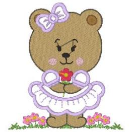 3 Matrizes para bordar de Urso e Ursa lindos