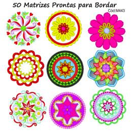 50 Matrizes para bordar Mandalas Lindas .jef .pes .dst