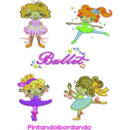 Matrizes para bordar Bailarinas delicadas