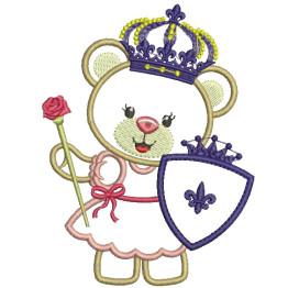 3 Matrizes para Bordar Ursinhas Princesas