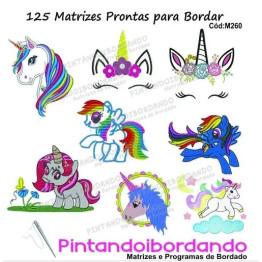 125 MATRIZES PRONTAS PARA BORDAR UNICÓRNIOS