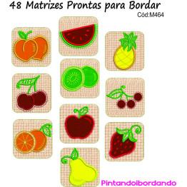 Matrizes para bordar Legumes e Frutas