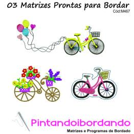 3 Matrizes para bordar Bicicletas