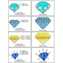 7-Matrizes Prontas para Bordar Diamantes