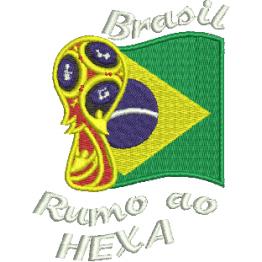 Matriz De Bordado Copa 2018 Mascote + Rumo ao hexa