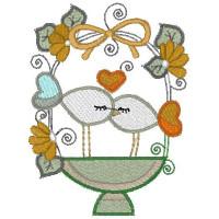 Matrizes para Bordar Casal de Pássaros