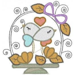 10 Matrizes para Bordar Casal de Pássaros - Namorados