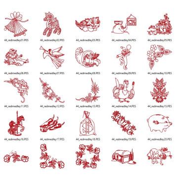 Matrizes para Bordar Redwork Variadas - 35 Matrizes