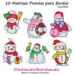 Matrizes de Bordado Boneco de Neve Natal