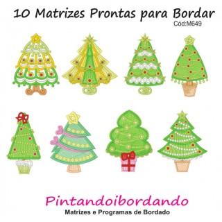 Matrizes De Bordado Árvores de Natal Lindas