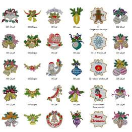 Matrizes De Bordado Natais Ornamentais - 72 Matrizes