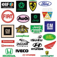Matrizes De Bordado Logo Marcas de Carros  - 180 Matrizes