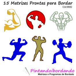 Matrizes De Bordado Academia / Musculação