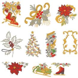 Matrizes De Bordado Natal Elegante