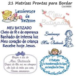 Matrizes De Bordado Meu Batizado!
