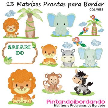 Matrizes De Bordado Bebês Safari Lindos!