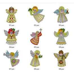 Matrizes para Bordar Anjos de Natal