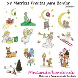58 Matrizes Prontas para Bordar Noite de Natal!