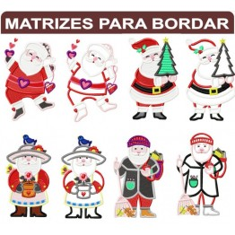 Matrizes Prontas para Bordar Papail Noel Diversos