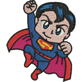 Matriz para Bordar Super Homem Baby