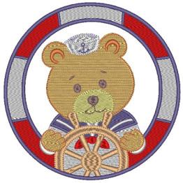 Matriz para Bordar Urso Marinheiro âncora