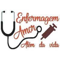 Matriz para Bordar Enfermagem com Amor