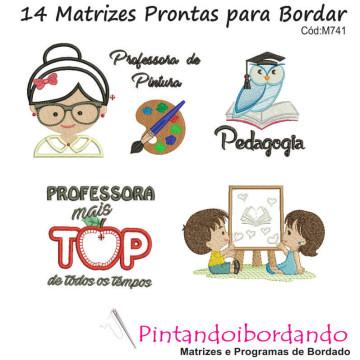 Matrizes para Bordar Homenagem aos Professores