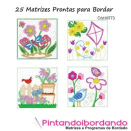25 Matrizes para Bordar Quilt Florais