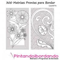 Matrizes Prontas para Bordar Quilt Variadas - 300 Matrizes