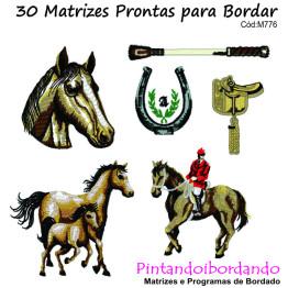 Matrizes De Bordado Cavalos Diversos - 30 Matrizes