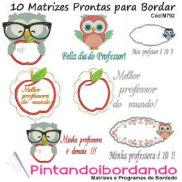 10 Matrizes de Bordar Feliz dia dos Professores