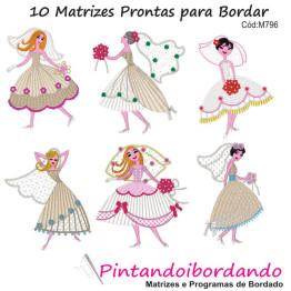 Matrizes De Bordado Noivas Rippled - 10 Matrizes