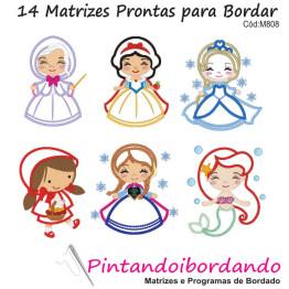 Matrizes De Bordado Princesas Apliques