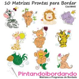 10  Matrizes de Bordados Safari baby