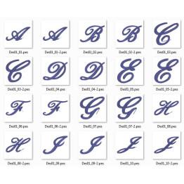 Matrizes De Bordado Alfabetos Variados - 6 Alfabetos