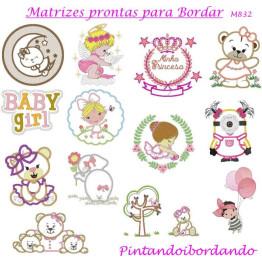 Matrizes De Bordado Infantil Para Meninas - 70 Matrizes