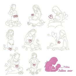 Matrizes De Bordado Mamães Gestantes