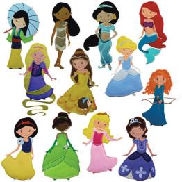 Matrizes De Bordado Princesas em Apliques