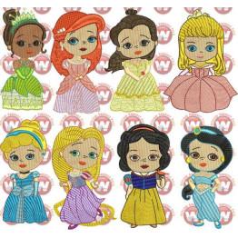 Matrizes De Bordado Princesas Babys