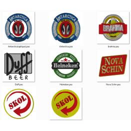 Matrizes De Bordados Logo Marcas de Cervejas
