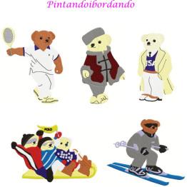 Matrizes De Bordado Ursos Esportistas