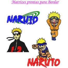 Matrizes de Bordado Naruto - 4 Matrizes