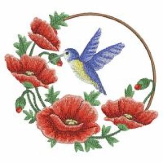 11 Matrizes para bordar Flores Papoulas
