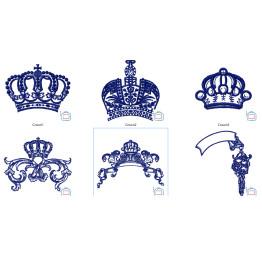 Matrizes De Bordar Molduras e Coroas Medievais - 13 Matrizes