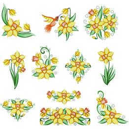 11 Matrizes De Bordar Flores Amarelas OFERTA!!
