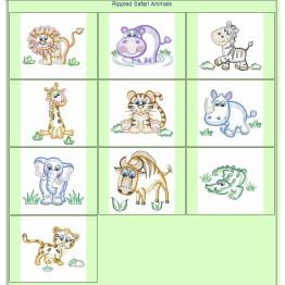 Matrizes De Bordar Safari em Rippled - 10 Matrizes