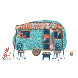 10  Matrizes De Bordado Trailler Camping Apliques