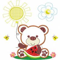 Matriz De Bordado Urso Melancia