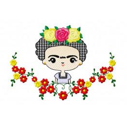 Matriz De Bordado Frida Kahlo