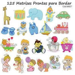 125 Matrizes de Bordar Infantil Variadas